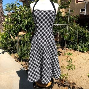 Ruby Rox Pinup Houndstooth Halter Dress Size 5